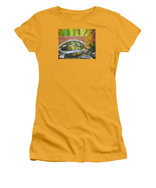 Women's T-Shirt (Junior Cut) featuring the painting Natures Eye by Donna Blossom