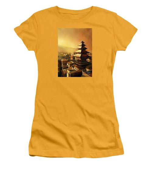 Nepal Temple Women's T-Shirt (Junior Cut) by Ryan Fox
