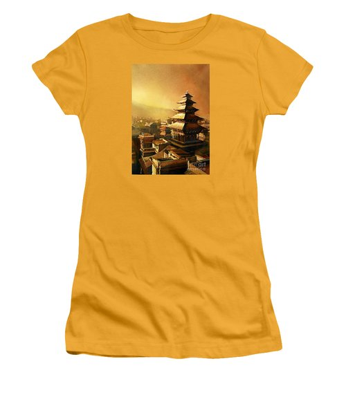 Nepal Temple Women's T-Shirt (Athletic Fit)