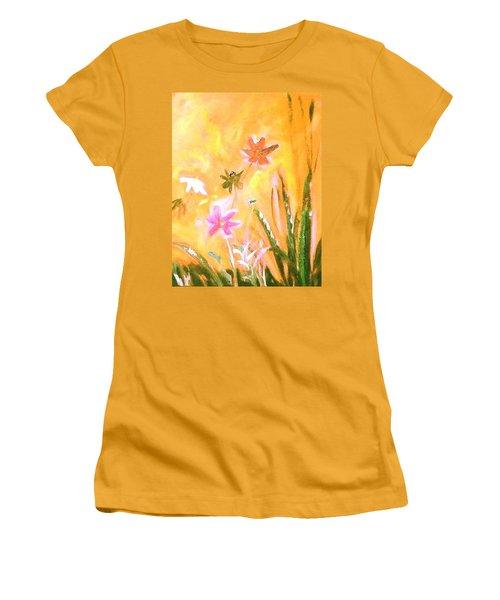 New Daisies Women's T-Shirt (Junior Cut) by Winsome Gunning