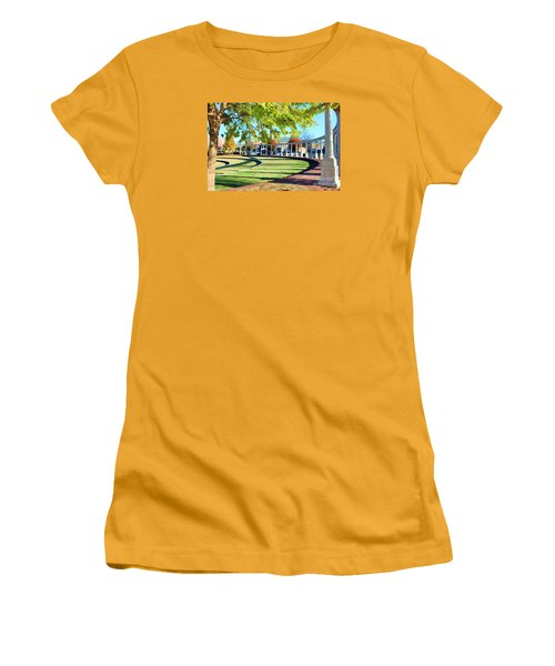 Women's T-Shirt (Junior Cut) featuring the photograph Newnan Park Ampitheatre by Roberta Byram