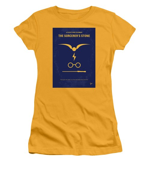 No101 My Harry Potter Minimal Movie Poster Women's T-Shirt (Athletic Fit)