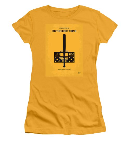 No179 My Do The Right Thing Minimal Movie Poster Women's T-Shirt (Athletic Fit)