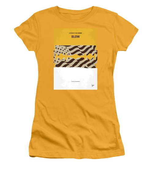 No693 My Blow Minimal Movie Poster Women's T-Shirt (Junior Cut)
