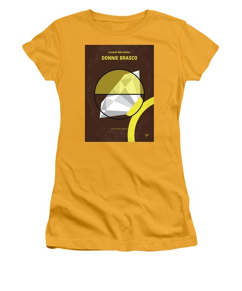 No766 My Donnie Brasco Minimal Movie Poster Women's T-Shirt (Athletic Fit)