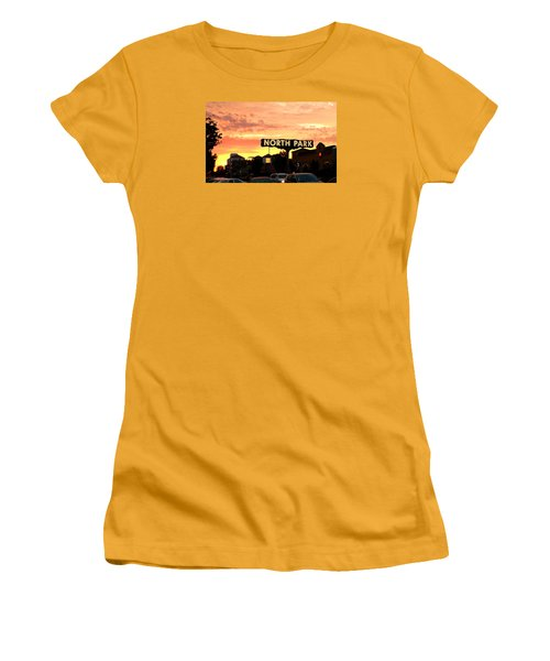 San Diego North Park Sun Women's T-Shirt (Junior Cut) by Christopher Woods