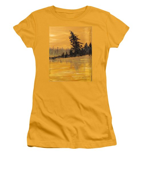 Women's T-Shirt (Junior Cut) featuring the painting Northern Ontario Three by Ian  MacDonald