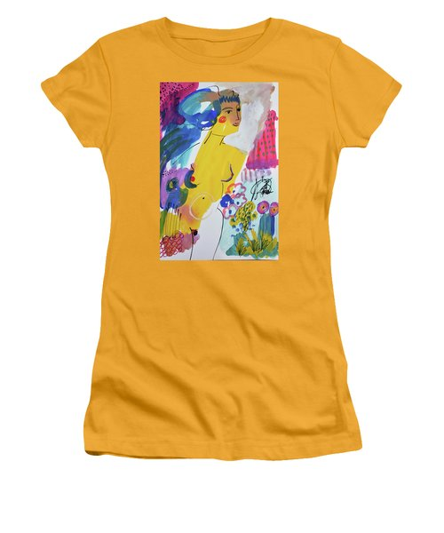 Nude In A Garden Women's T-Shirt (Athletic Fit)