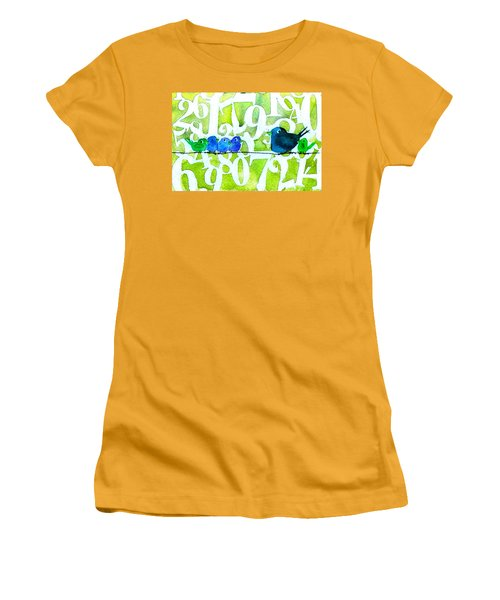 Numbirds Counting Lesson Women's T-Shirt (Athletic Fit)