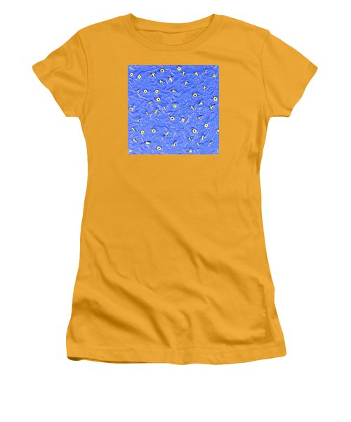 Women's T-Shirt (Junior Cut) featuring the painting Nuts And Bolts by Thomas Blood