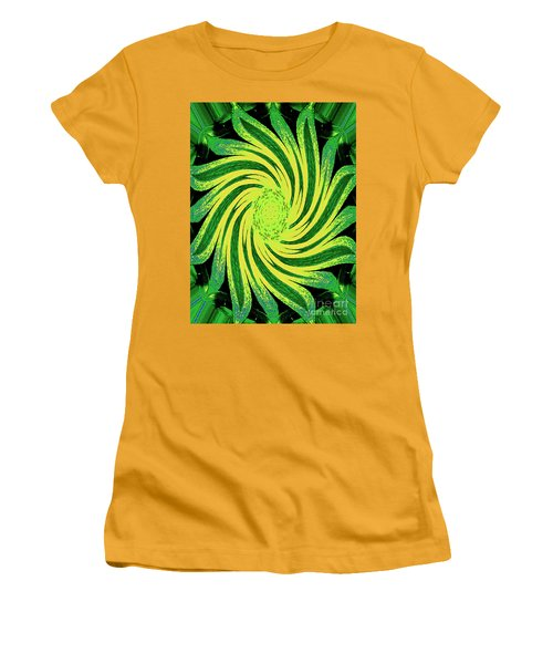 Women's T-Shirt (Athletic Fit) featuring the digital art Octagonal Painting Put Into Motion by Merton Allen