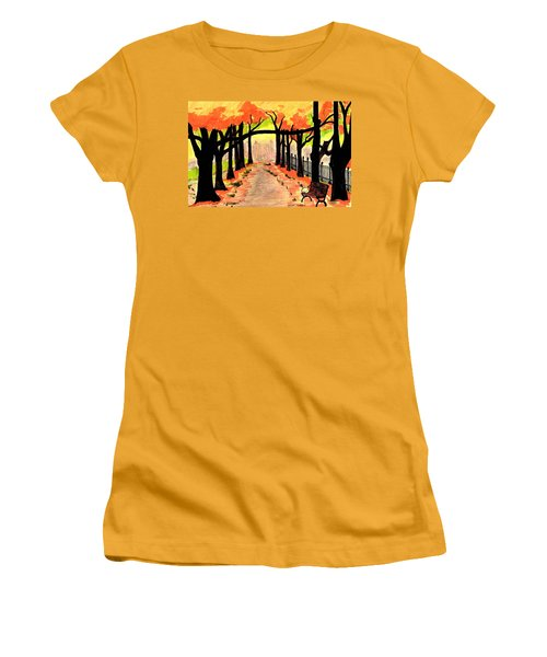 October- Salem Common Women's T-Shirt (Athletic Fit)