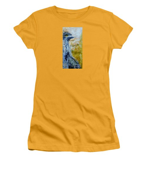 Old Man Emu Women's T-Shirt (Junior Cut) by Lyn Olsen