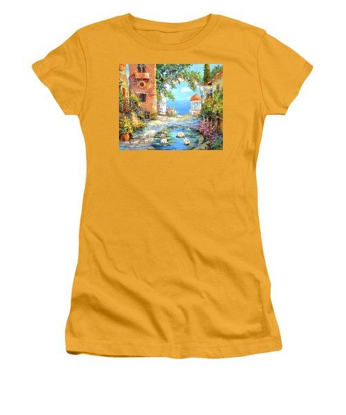 Old Yard  Women's T-Shirt (Junior Cut) by Dmitry Spiros