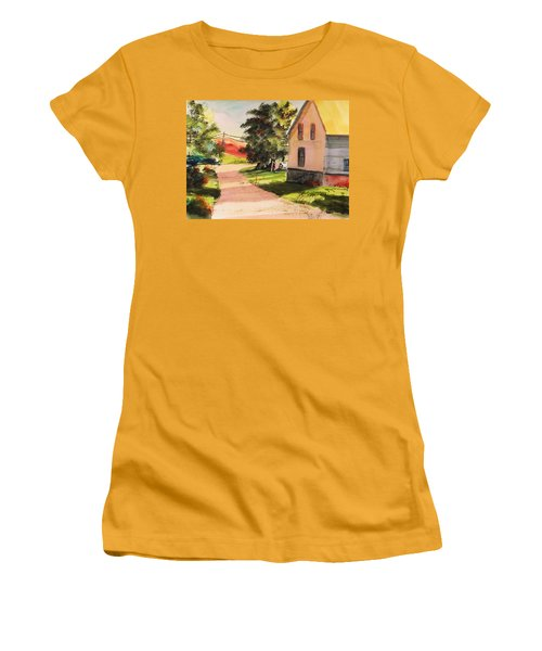 Women's T-Shirt (Junior Cut) featuring the painting On The Line by John Williams