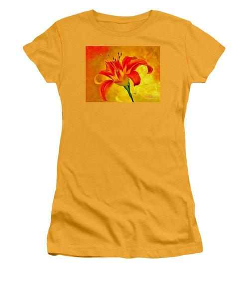 One Tigerlily Women's T-Shirt (Junior Cut) by Marsha Heiken