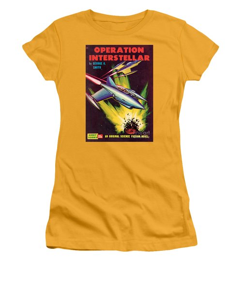 Operation Interstellar Women's T-Shirt (Junior Cut) by Malcolm Smith