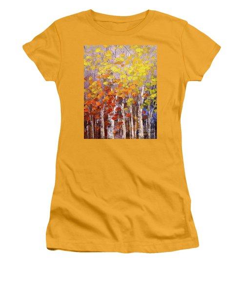 Operation October Women's T-Shirt (Junior Cut) by Tatiana Iliina