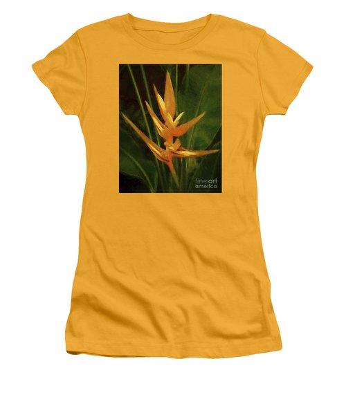Orange Art Women's T-Shirt (Athletic Fit)