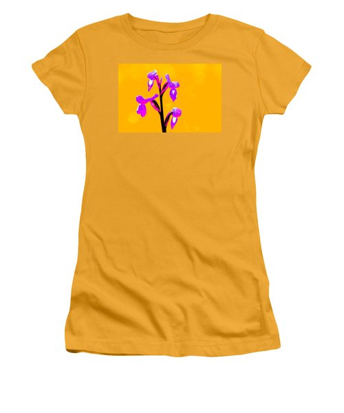 Orange Champagne Orchid Women's T-Shirt (Junior Cut) by Richard Patmore