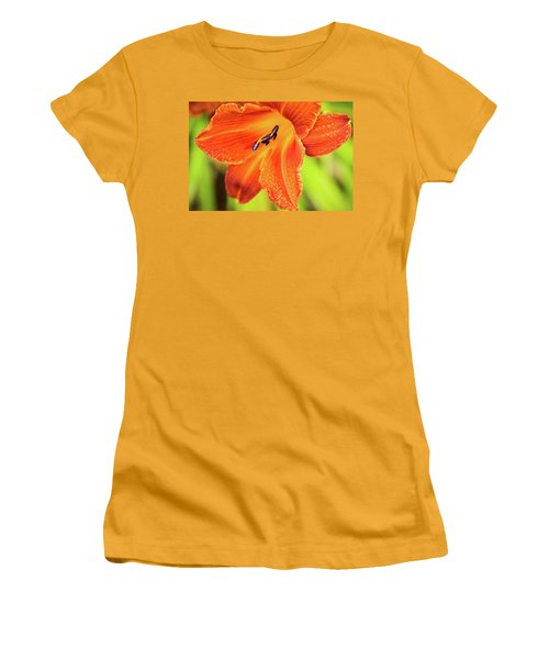 Orange Lilly Of The Morning Women's T-Shirt (Junior Cut)