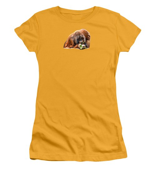 Orangutan Women's T-Shirt (Junior Cut) by Maria Coulson