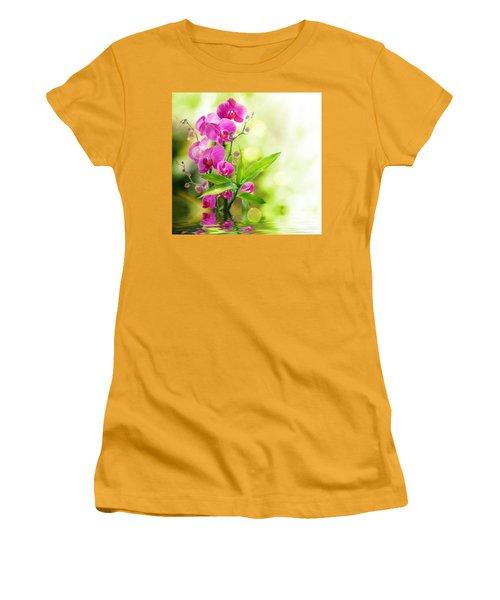 Orchidaceae Women's T-Shirt (Junior Cut) by Thomas M Pikolin