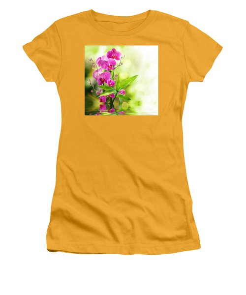 Orchidaceae Women's T-Shirt (Athletic Fit)