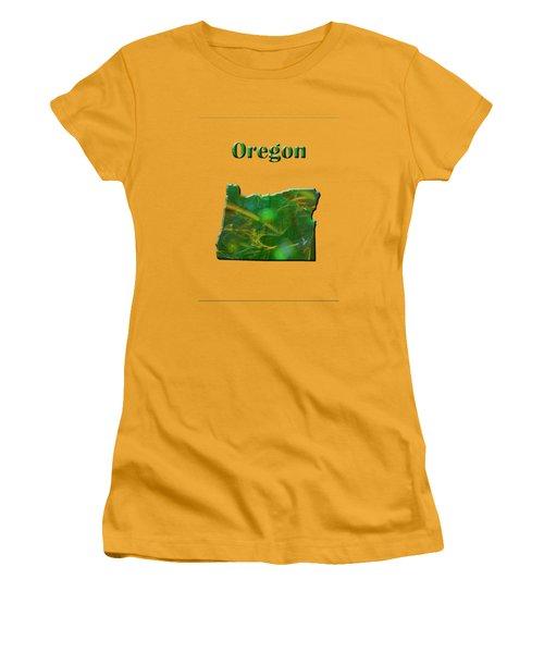 Oregon Map Women's T-Shirt (Athletic Fit)