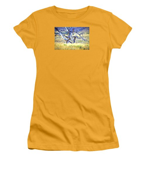 Women's T-Shirt (Junior Cut) featuring the digital art Out Standing In My Field by James Steele