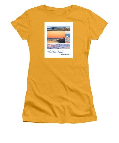 Outer Banks North Carolina Women's T-Shirt (Junior Cut) by Joni Eskridge