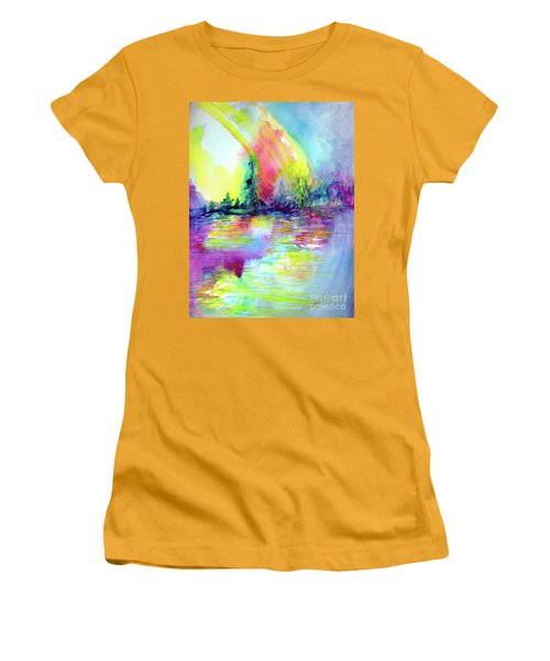 Over The Rainbow Women's T-Shirt (Junior Cut) by Allison Ashton