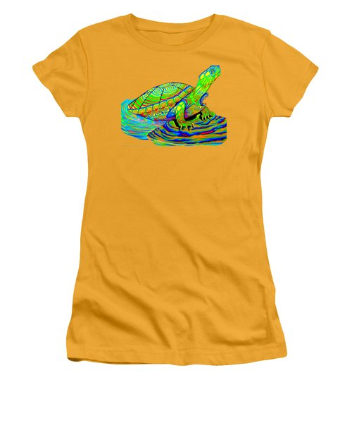 Painted Turtle Women's T-Shirt (Athletic Fit)