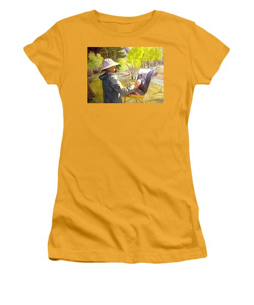 Painters Paradise Women's T-Shirt (Junior Cut) by Marilyn Jacobson