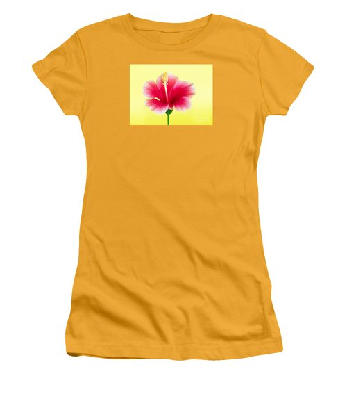 Passion Hibiscus Women's T-Shirt (Athletic Fit)