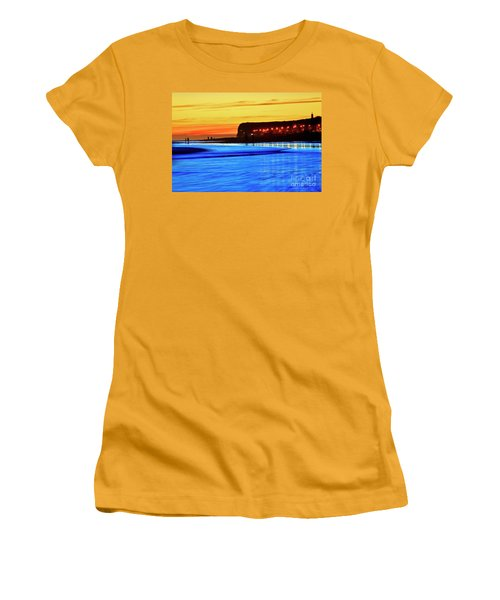 Patagonia Beach. Women's T-Shirt (Junior Cut) by Bernardo Galmarini