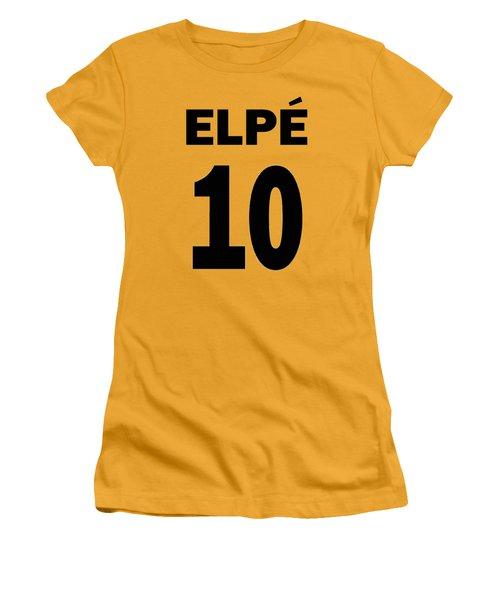 Pele 10 Women's T-Shirt (Junior Cut) by Charlie Ross