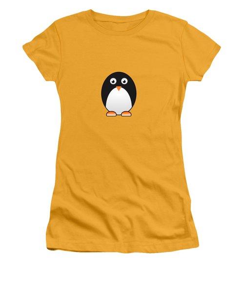 Penguin - Birds - Art For Kids Women's T-Shirt (Junior Cut) by Anastasiya Malakhova