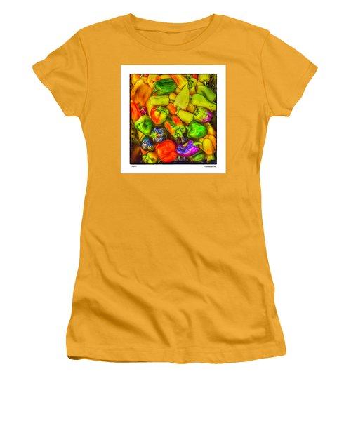Peppers Women's T-Shirt (Junior Cut) by R Thomas Berner