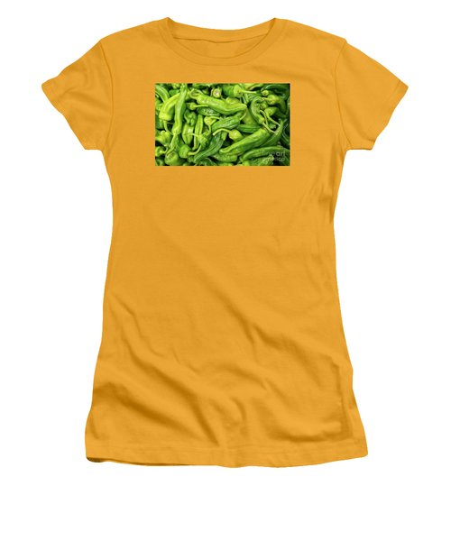 Picked A Peck Of Peppers Women's T-Shirt (Junior Cut) by Sandy Molinaro
