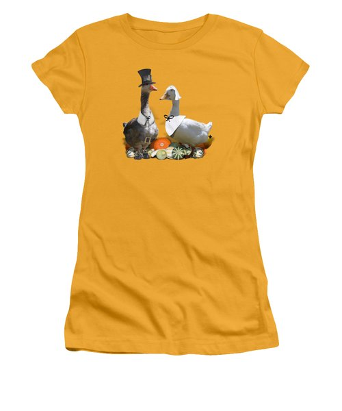 Pilgrim Ducks Women's T-Shirt (Junior Cut) by Gravityx9 Designs