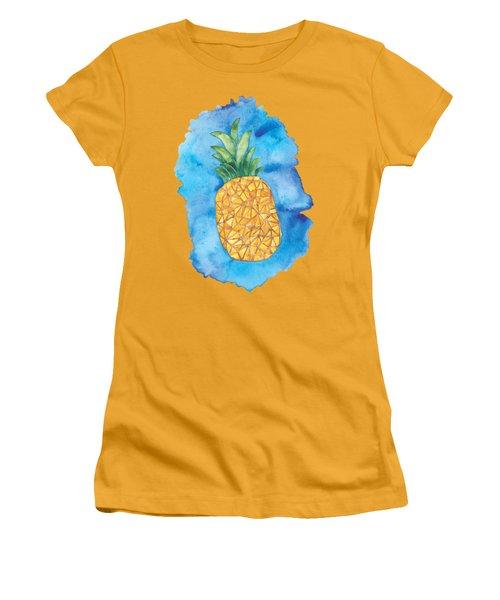 Pineapple Women's T-Shirt (Junior Cut) by Tamara Elliott