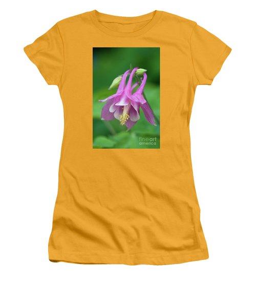 Women's T-Shirt (Junior Cut) featuring the photograph Pink Columbine - D010096 by Daniel Dempster