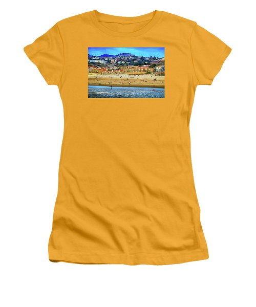 Women's T-Shirt (Junior Cut) featuring the photograph Pismo Hilltop Ocean View by Joseph Hollingsworth