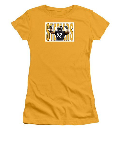 Pittsburgh Steelers Women's T-Shirt (Junior Cut) by Stephen Younts