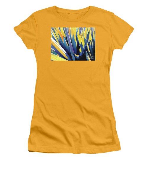 Plant Burst - Yellow Women's T-Shirt (Athletic Fit)