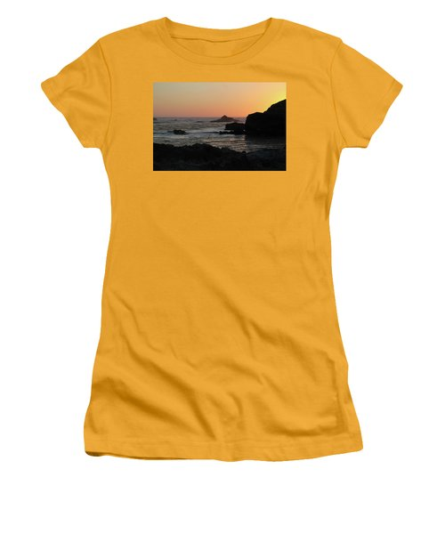 Women's T-Shirt (Athletic Fit) featuring the photograph Point Lobos Sunset by David Chandler