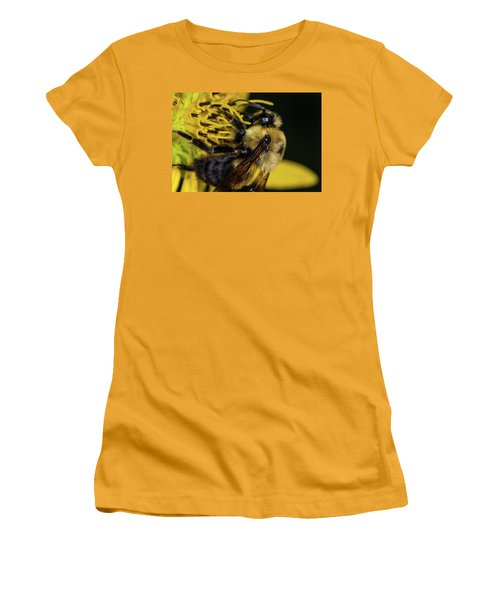 Women's T-Shirt (Junior Cut) featuring the photograph Pollen Collector  by Jay Stockhaus