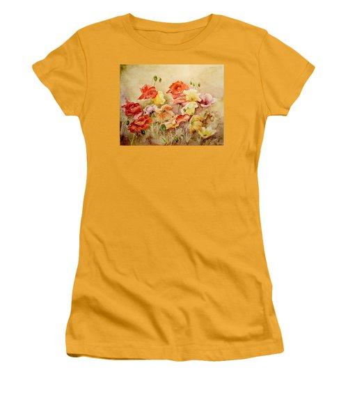 Poppies Women's T-Shirt (Junior Cut) by Marilyn Zalatan