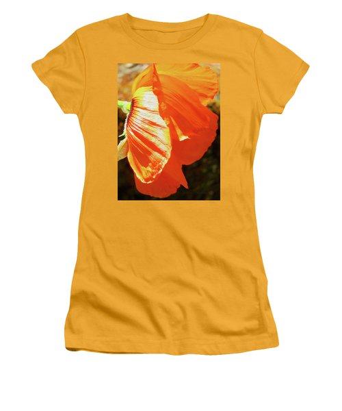 Poppy Profile - Beauty In The Garden Women's T-Shirt (Junior Cut) by Brooks Garten Hauschild